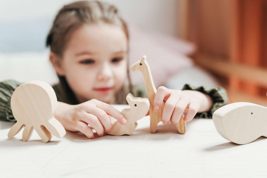 蒙特梭利教學法的幼兒園的教具很豐富