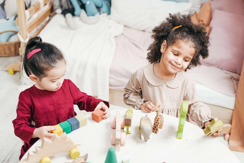 採用蒙特梭利教學法的幼兒園